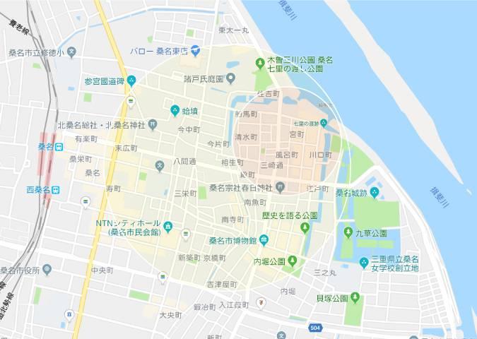 三重県桑名市の観光MAP